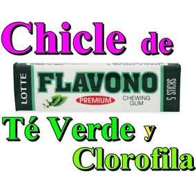 Chicle De Te Verde Y Clorofila Caja Con 20 Paquetes Flavono