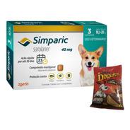 Simparic 40 Mg Antipulgas 10 A 20 Kg  Zoetis Com Bifinho
