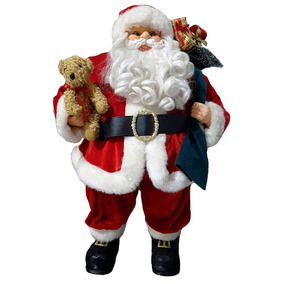 Papai Noel Grande Luxo Natal 64cm Decor Condomínio Edifício
