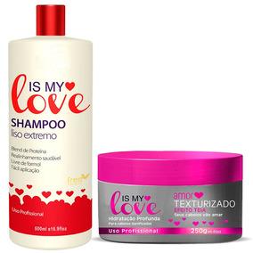Kit Is My Love Shampoo Alisante 500ml + Amor Texturizado250g