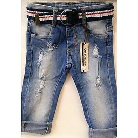 Calça Jeans Colorida Bebê Menino 2 Meses A 1 Ano