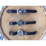 3 Relógios Masculinos Pulseira Couro Tommy Hilfiger /nautica