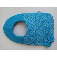 Babador Com Laço - Azul Liso E Estampado