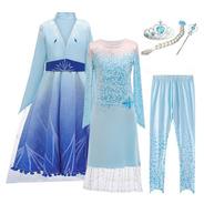 Fantasia Infantil Elsa Filme Frozen 2 Completa Com 6 Peças