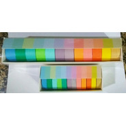 Washi Tape Fita Adesiva Scrapbook Pastel Mj C/24