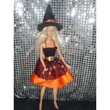 Ropa. Disfraz Bruja P/ Muñecas Barbie Y/o Similares