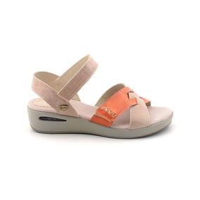 Sandalia Mujer Cuero Cavatini Zapato Goma Confort Mcsd04443