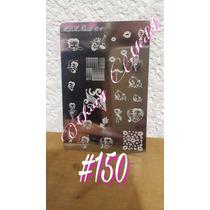 Placa Laser Sellos #150 Uñas Betty Boo Gelish Acrilico Konad
