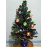 Arbolito De Navidad Con Luces Cambiantes De Fibra Optica