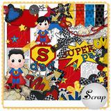 Dia Dos Pais Super Pai Kit Scrapbook Digital - Envio Rápido