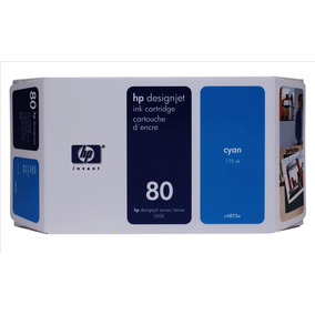 Cartucho Hp 80 Inkjet Cartridge 175ml Cyan - C4872a |