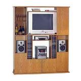 Modular Track Platinum 553 Espacio Tv Color Roble Tio Musa