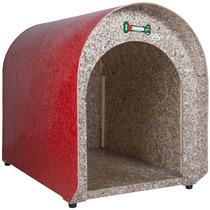 Casinha Ecológica Vermelha Iglu Para Cachorro -g