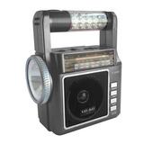 Bocina Radio Recargable Usb Lax Max 1831 Am-fm Lampara Gris