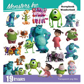 Kit Imprimible Monsters Inc Imagenes Cliparts Monstruos