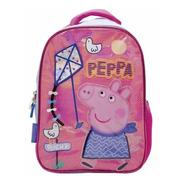 Mochila Peppa Pig 12` Barrilete Jardin Chica Original