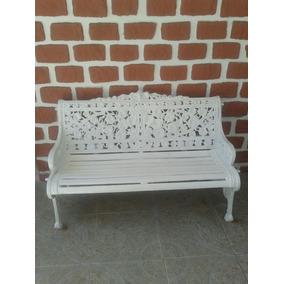 Conjunto De Cadeiras E Namoradeira De Ferro Fundido