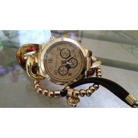 c31a98cd39c Pulseira Relogio Vip Nautilus Dourado - Relógio Michael Kors ...
