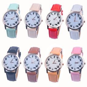 Relógios De Luxo Feminino Várias Cores Pulseira De Couro