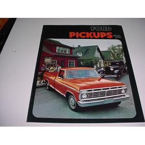 Folder Ford F100 F-100 Pickup Picape 74 1974 V8 F250 F350
