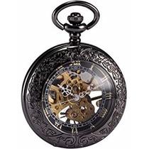 Relógio De Bolso Skeleton Mecânico Raro Oferta Bronze, Ouro