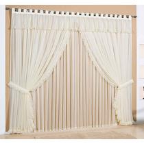 Cortina Rainha 2,5m X 2,3m+cortina 2,5m X 1,8m