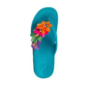 Sandalia Para Playa Hr B85 Floral Primavera
