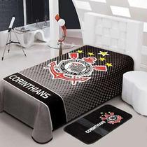 Kit-1 Cobertor Stadium Corinthians Casal +1cortina -jolitex