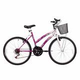 Bicicleta Infantil Feminina Parati 18v Track Bikes Rosa