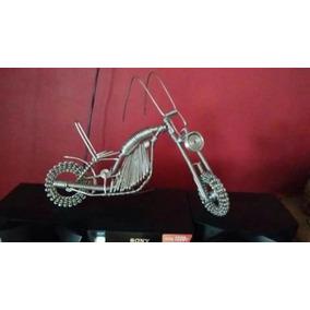Artesania Moto Chopper Decorativa C/movimiento