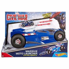 Lanzadora De Motos Hot Wheels Capitan America