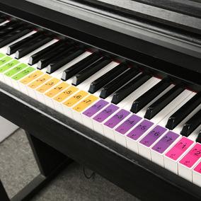 Piano Etiquetas 88 Teclas Aprende A Tocar Teclado Stickers