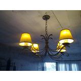 Araña Hierro Forjado,iluminacion,decoracion,fabrica Muebles