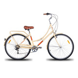 Bicicleta Vintage Retrô Imperial 700 7v Shimano Bege