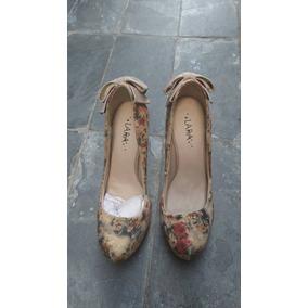 Lindo Sapato Florido Lara Costa! Novo!