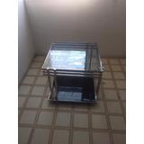 Mesas De Centro Cromadas Con Vidrio