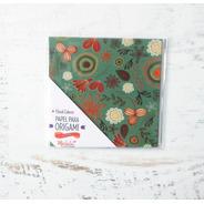 Flores Celeste - Papel Para Origami 10x 10 Cm