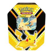Card Game Pokémon Lata Poderes V Pikachu Copag