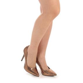 Sapato Scarpin Feminino Lara - Bronze
