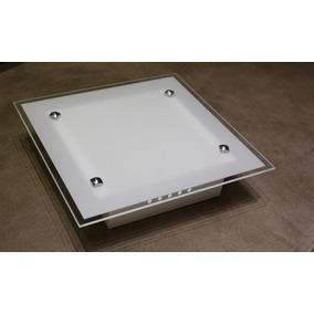 Lustres Sobrepor Quadrado 2 Lâmpadas 28x28 Cm