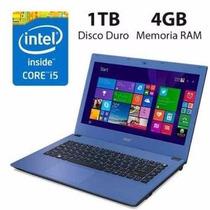 Notebook Acer E5-473-58t1 Intel 5200u / 4gb / 1tb / 14 /hdmi