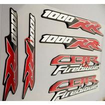 Kit 6 Logos Honda Cbr 1000rr Fireblade-resinados-alto Relevo