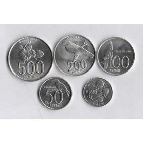 Indonesia Set De 5 Monedas - Sin Circular - Flora Y Fauna