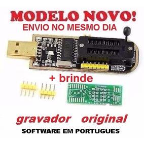 Gravador Programador De Bios Eprom Flash Usb Ch341a 24x25x