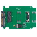 Msata Mini Pci-e Ssd Hard Drive To 2.5 Inch Sata Converter C