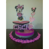 Centro De Mesa Minni Mouse , Dulceros Minni Y Mickey