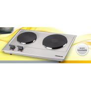 Coolbrand Acero Inoxidab 8099 Anafe Electrico Doble Hornalla