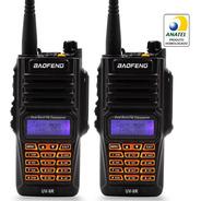 Kit 2 Rádio Comunicador Baofeng Uv9r 10w Resistente À Água