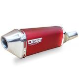 Escape Ponteira Dore + Curva Cg 150/125 Titan Fan Vermelho