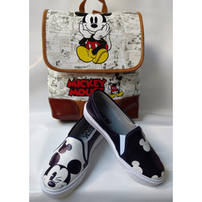 Combo Zapato Vans Mickey + Bolso Morral Dama Mujer Gratis